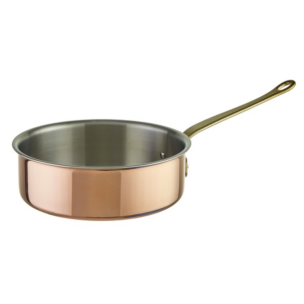 Tri-Ply Copper Saute Pan with Lid by Paderno World