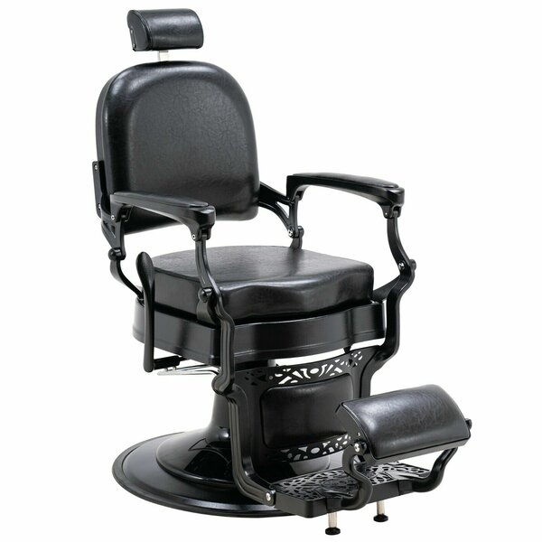 Patio Furniture Vintage Barber Heavy Duty Metal Hydraulic Recline Spa 3825 Reclining Massage Chair