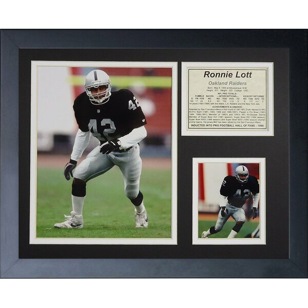 Ronnie Lott Framed Memorabilia by Legends Never Die