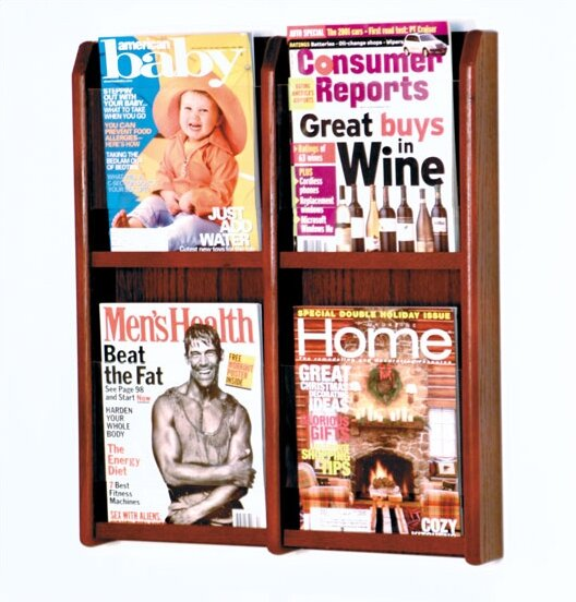 4 Pocket Magazine Wall Display by Wooden Mallet