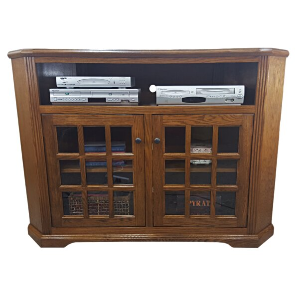 Clopton Solid Wood Corner TV Stand For TVs Up To 65