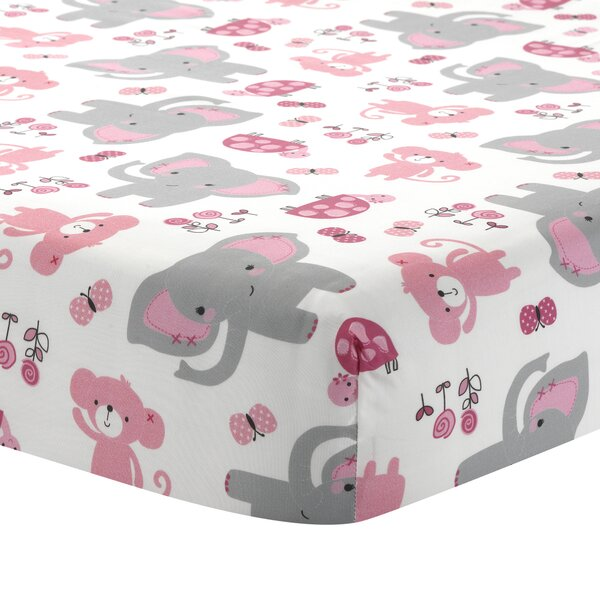Twinkle Toes Bedtime Originals Elephant Fitted Crib Sheet by Lambs & Ivy Signature