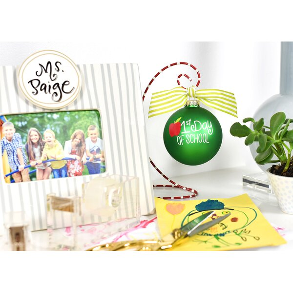First Day of School Glass Ball Ornament by Coton Colors