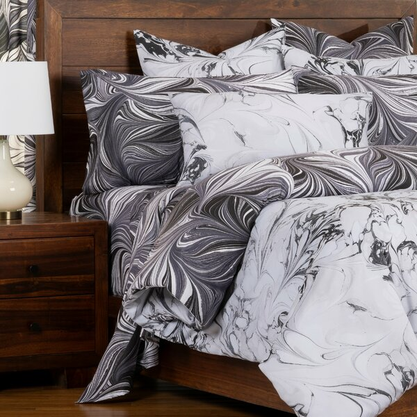 Carrara Marbled Reversible Cal King Size Duvet Cover