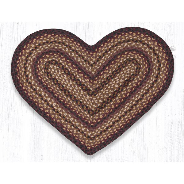 Braided Black Cherry Area Rug by Earth Rugs
