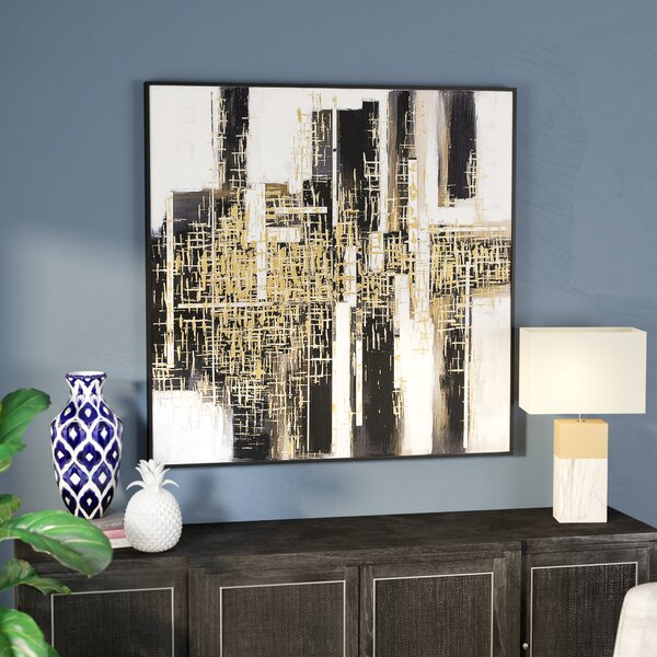 Urbane Framed Oil Painting Print on Wood by Everly