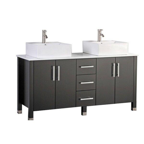 Larock Modern 60 Double Bathroom Vanity Set