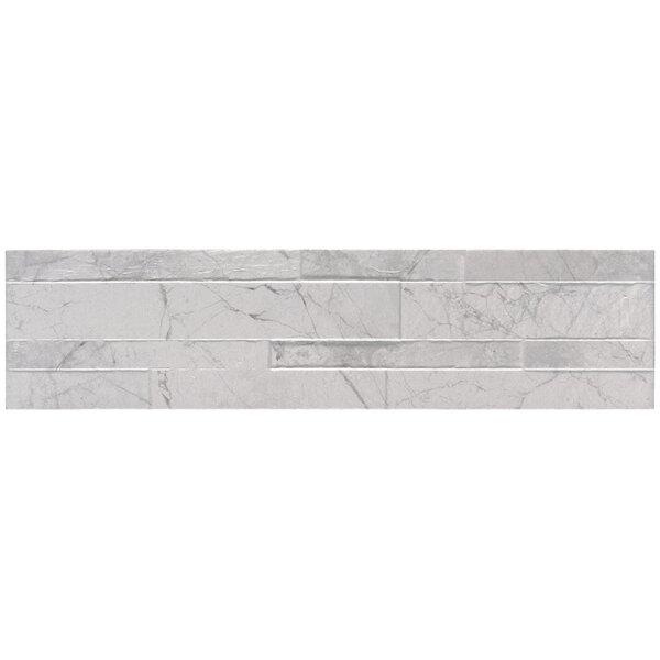 Carrara Ledger 6 x 24 Porcelain Field Tile in White by MSI