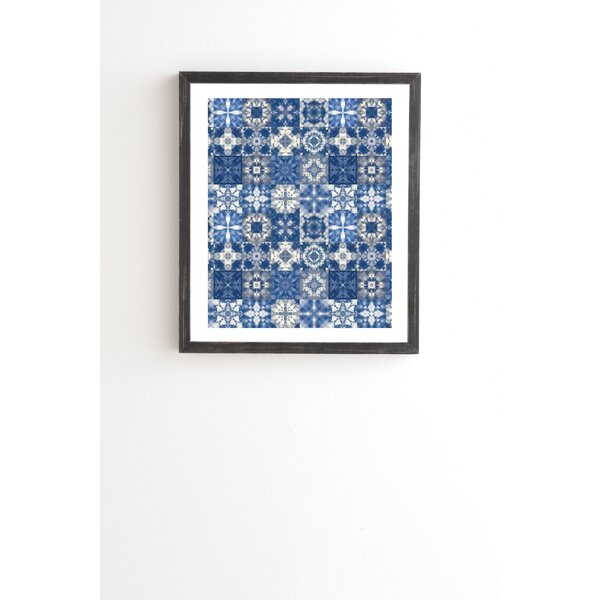 Shibori Skies Framed Graphic Art by East Urban Home