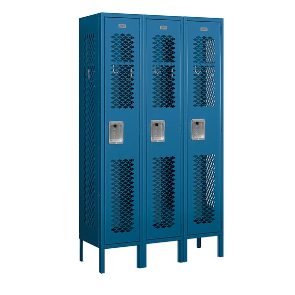1 Tier 3 Wide Gym And Locker Room Locker By Salsbury Industries.