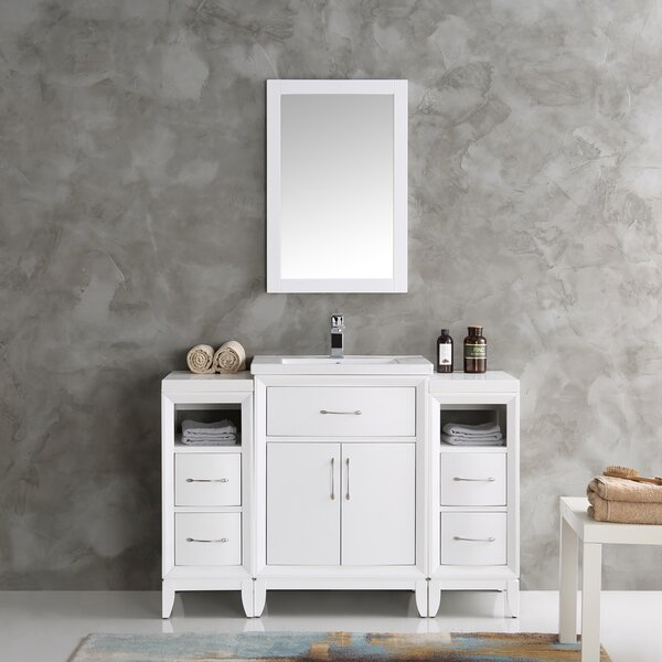 Cambridge 48 Single Traditional Bathroom Vanity Set with Mirror by Fresca
