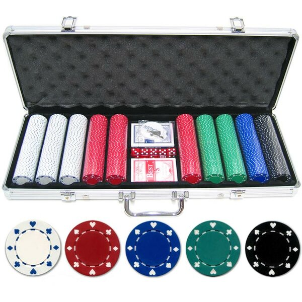 500 Piece Suited Poker Chip by JP Commerce