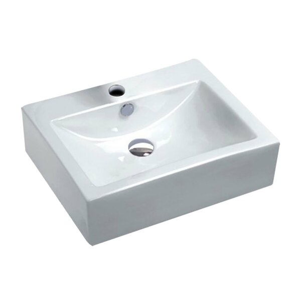 Vitruvius Series Vitreous China Rectangular Vessel Bathroom Sink with Overflow by ANZZI