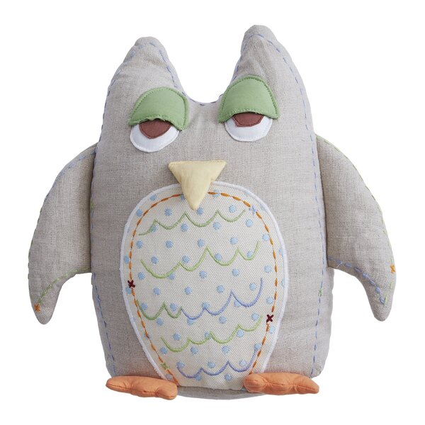 Baby Owls Linen Throw Pillow by The Little Acorn