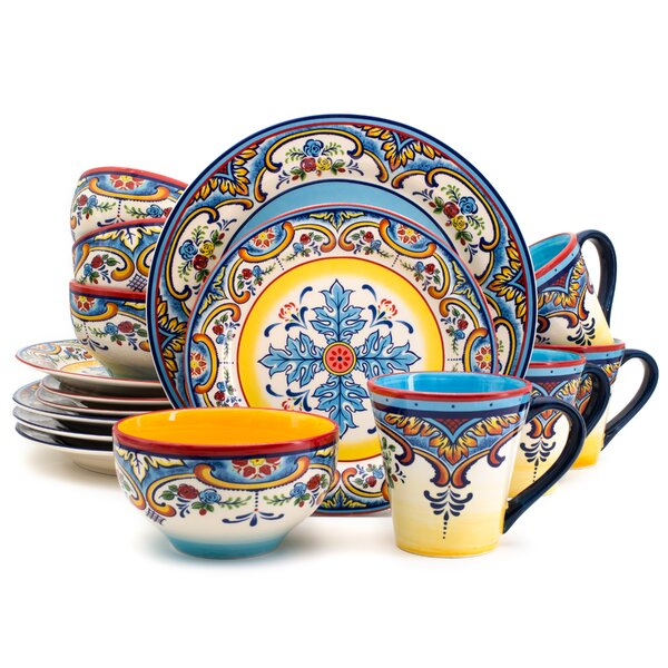 Hong 16 Piece Dinnerware Set, Service for 4 by Bungalow Rose