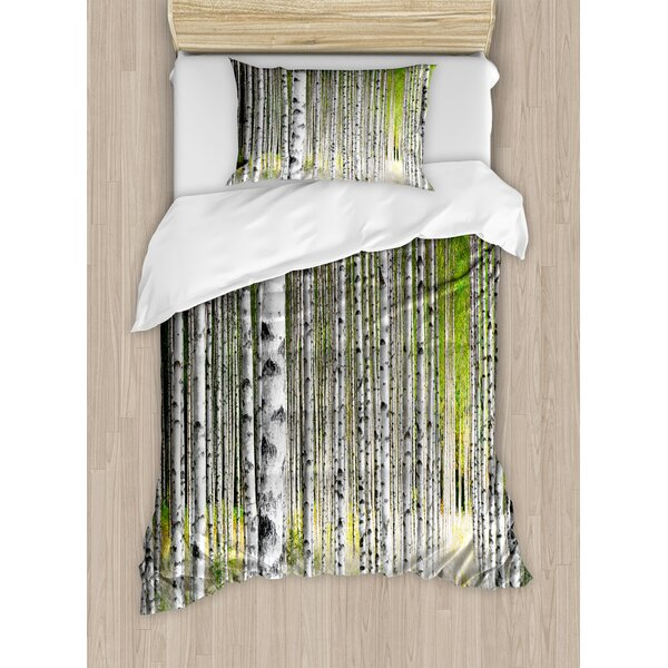 Birch Tree Duvet Cover Set by Ambesonne