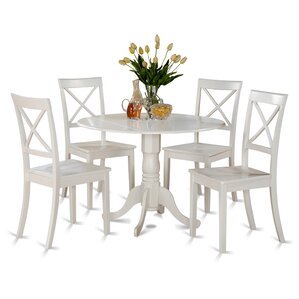 Great Abrahamic 5 Piece Linen White Dining Set