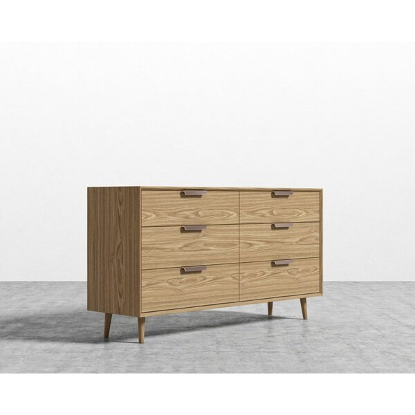 Jake 6 Drawer Double Dresser by Foundry Select
