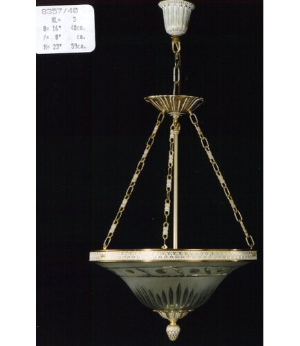 Detrick 3-Light Bowl Pendant Astoria Grand Finish: Antique S
