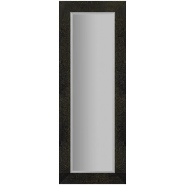 Blocton Woodgrain Framed Beveled Wall Mounted Accent Mirror by Charlton Home