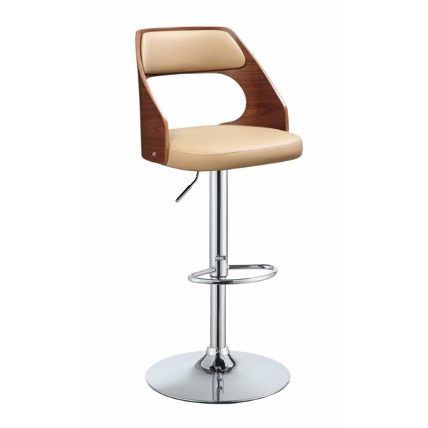 Luis Modish Adjustable Height Swivel Bar Stool by George Oliver George Oliver