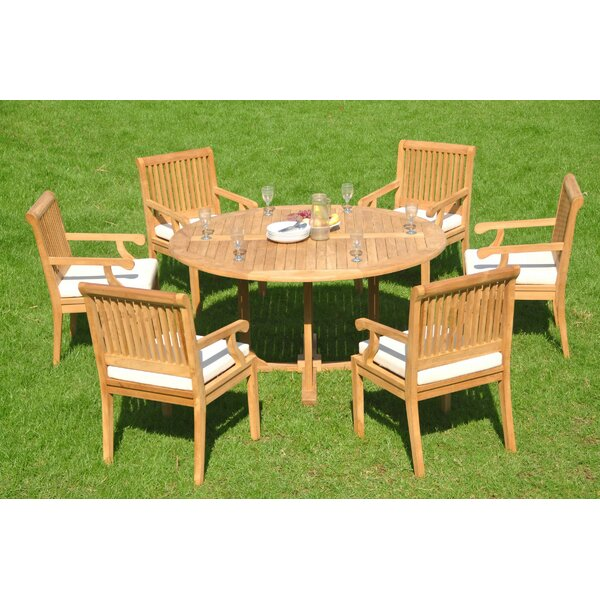 Mountview Luxurious 7 Piece Teak Dining Set by Rosecliff Heights
