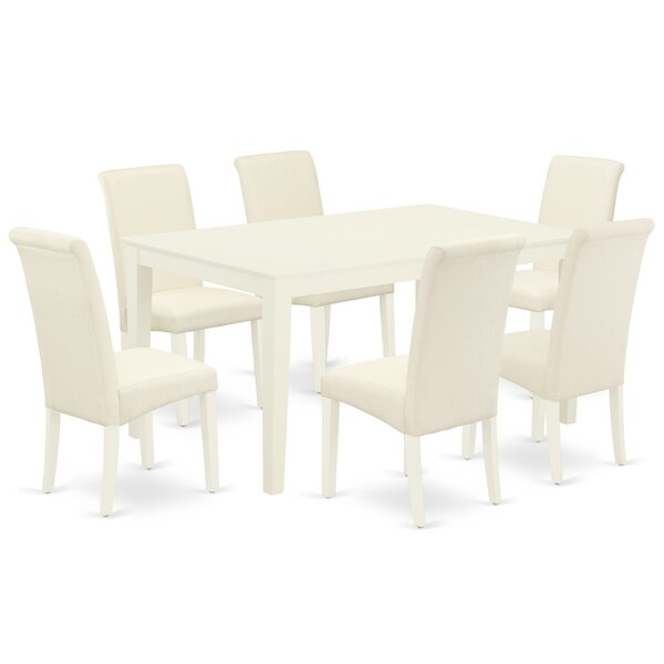 Taquan 7 Piece Solid Wood Dining Set by Winston Porter Winston Porter