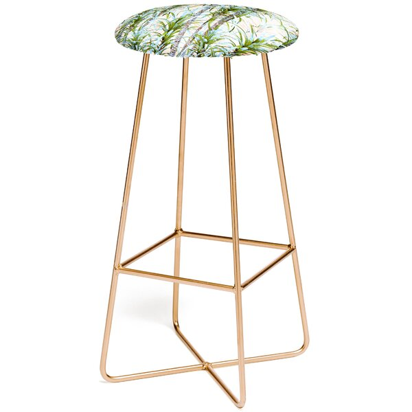 Pastel Palm Trees 30 Bar Stool by East Urban Home
