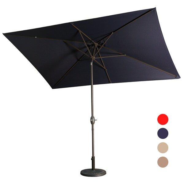 Carreiro 6.5' X 10' Rectangular Market Umbrella By Breakwater Bay by Breakwater Bay Cool