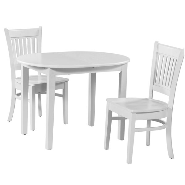 Amazing Spillers 3 Piece Extendable Solid Wood Dining Set By Winston Porter Today Only Sale