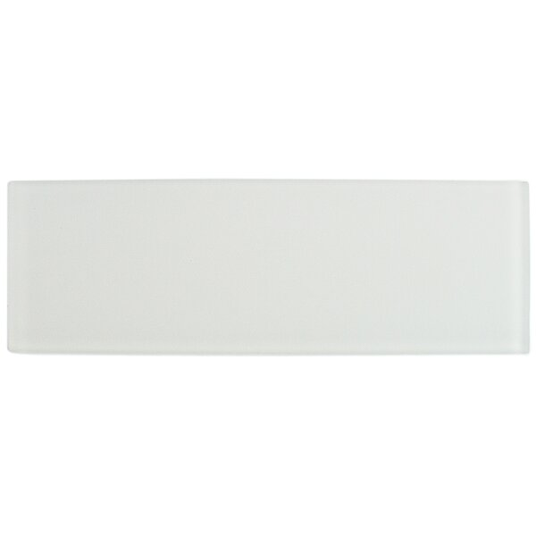 Contempo 4 x 12 Glass Subway Tile in White by Splashback Tile
