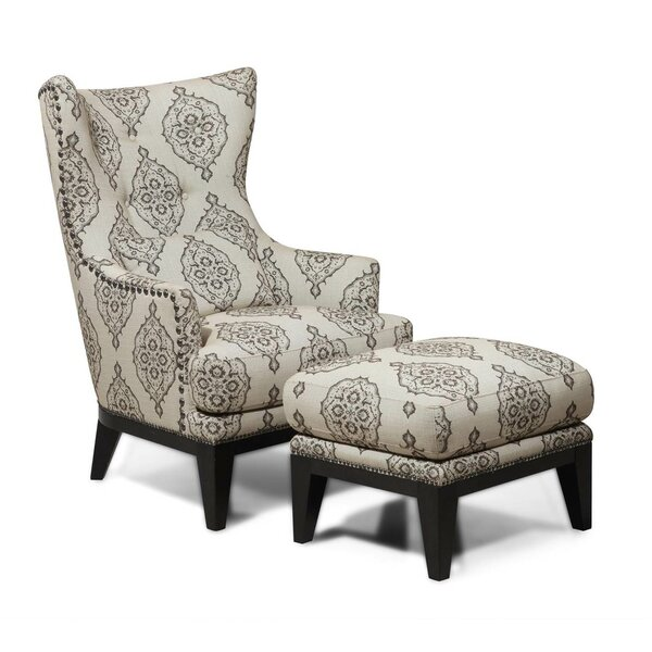 Wonderful Darby Home Co Baltic Wingback Chair And Ottoman U0026 Reviews | Wayfair