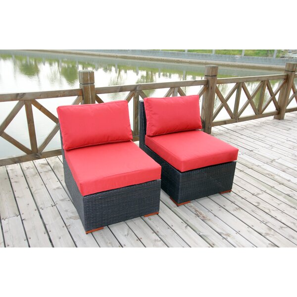 Scholtz Deep Seating Chair with Cushion (Set of 2) by Bay Isle Home