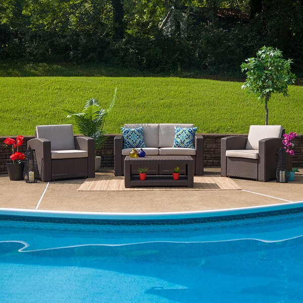 Tamil 4 Piece Sofa Seating Group with Cushions by Latitude Run