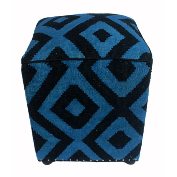 Render Kilim Cube Ottoman by World Menagerie
