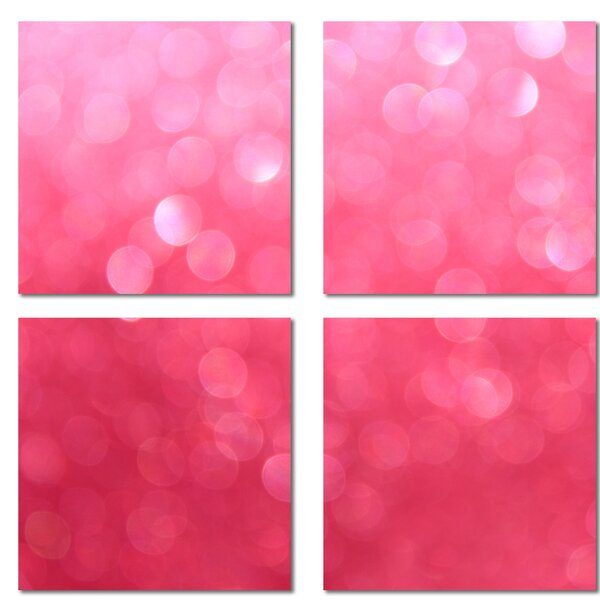 Custom 6 x 6 Beveled Glass Field Tile in Pink by Upscale Designs by EMA