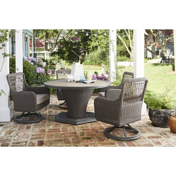 Dogwood 5 Piece Sunbrella Dining Set with Cushions by Paula Deen Home