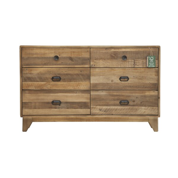 Worcester 6 Drawer Double Dresser by Loon Peak