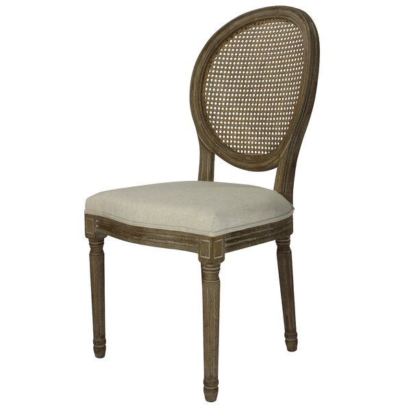 Auclair Weathered Upholstered Dining Chair (Set of 2) by One Allium Way