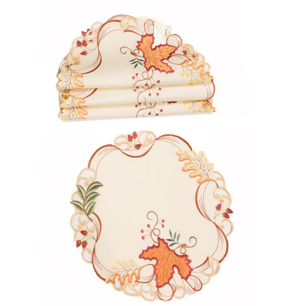 Scruggs Falling Leaves Placemat (Set of 4) by August Grove