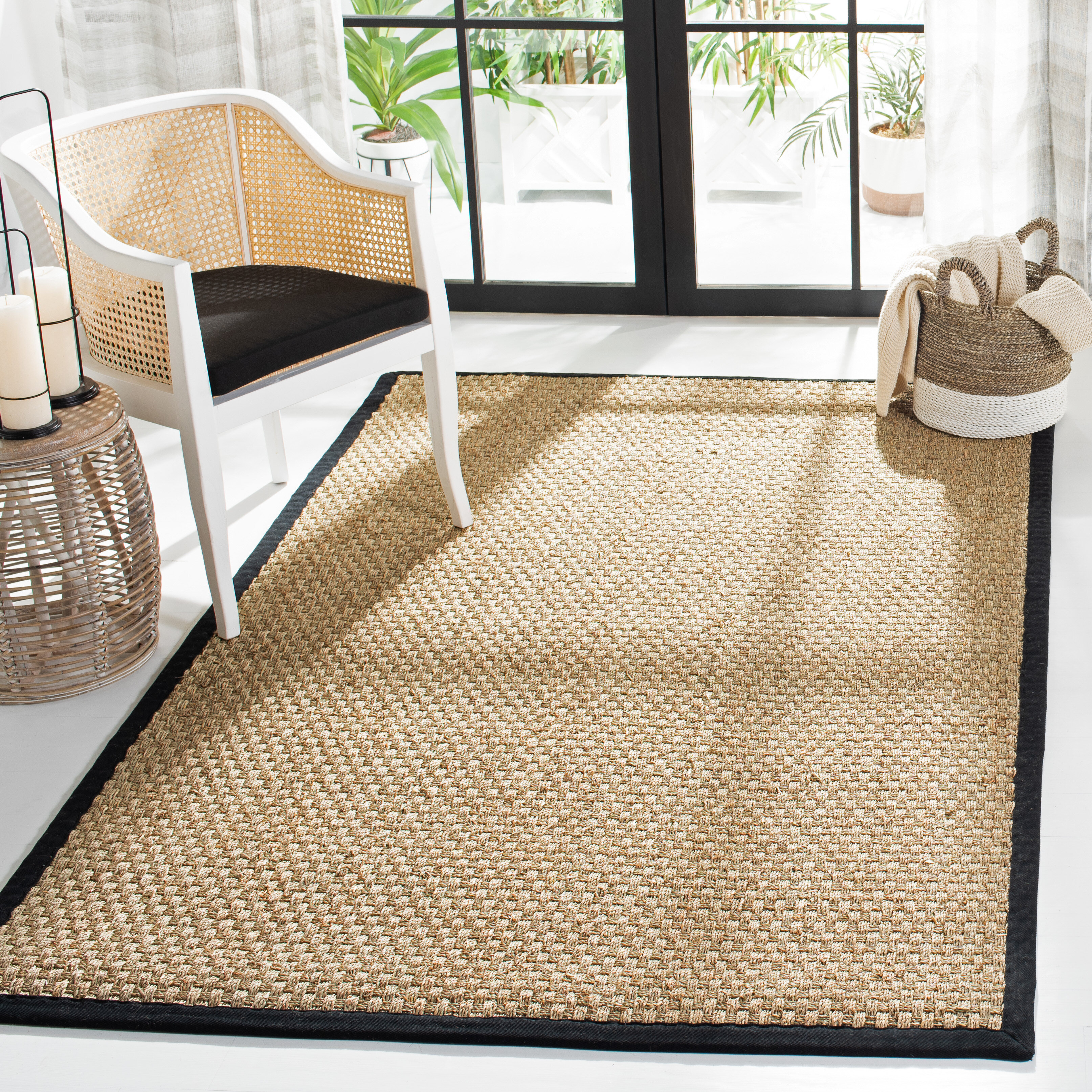 Bamboo Seagrass Black Area Rugs You Ll Love In 2021 Wayfair