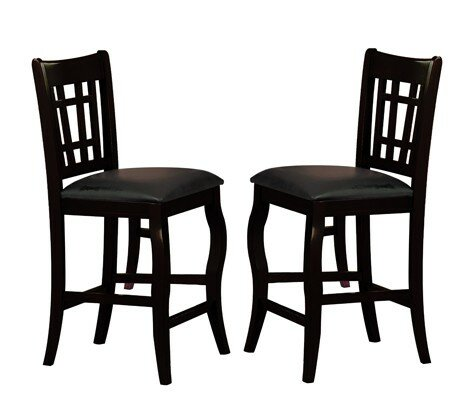 Nixon Wooden Counter Height with Designer Back Upholstered Dining Chair (Set of 2) by Winston Porter
