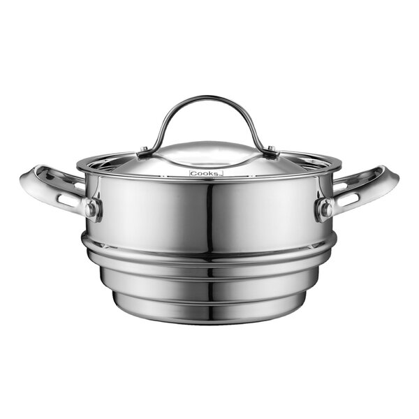 Multi-Ply Clad Stainless-Steel Universal Steamer Insert with Lid by Cooks Standard