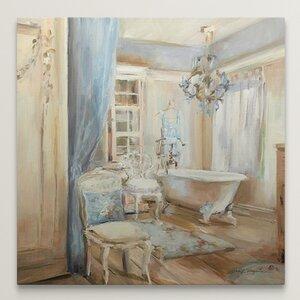 'Boudoir Bath I' by Marilyn Hageman Painting Print on Canvas by Great Big Canvas