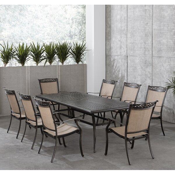 Bucher 9 Piece Outdoor Dining Set by Fleur De Lis Living