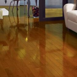 High Gloss 2-1/4 Solid Oak Hardwood Flooring in Butterscotch by Somerset Floors