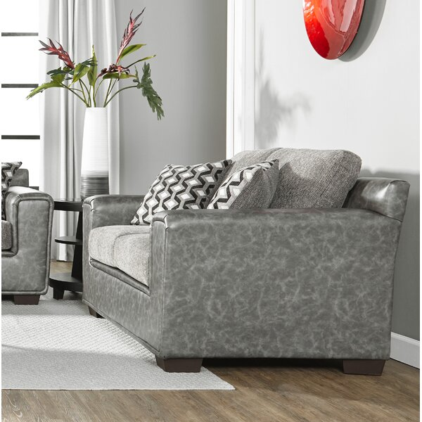 Modern Style Longoria Eclispe Loveseat by Latitude Run by Latitude Run