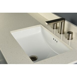 Best Bristol Ceramic Rectangular Undermount Bathroom Sink with Overflow By Maykke