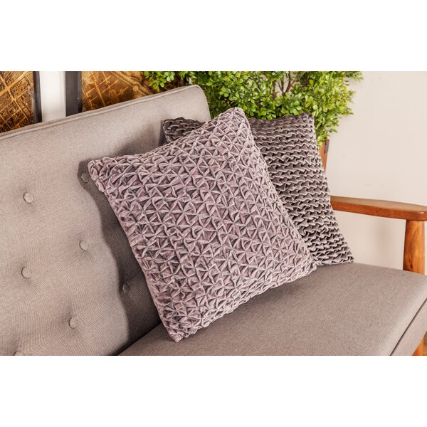 Adamek Modern Smocking Work Throw Pillow by Mercer41