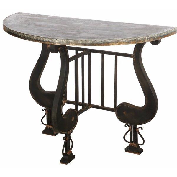 Ellettsville Antique Upgraded Demilune Console Table By Fleur De Lis Living